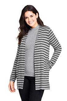 Women's Super-soft Brushed Jersey Stripe Cardigan