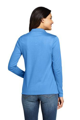 Lands' End - Petite Long Sleeve Supima Cotton Polo Shirt - 2