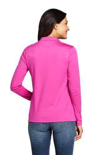 Lands' End - Long Sleeve Supima Cotton Polo Shirt - 2