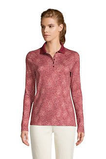Women's Long Sleeve Supima Cotton Polo Shirt