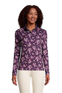 Supima-Poloshirt mit langen Ärmeln für Damen