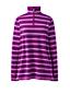 Sweatshirt Long 1/2 Zip Rayé, Femme Grande Taille