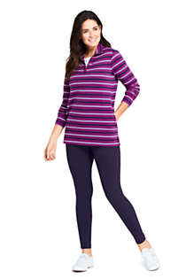Women's Long Sleeve Quarter Zip Serious Sweats Tunic Sweatshirt Stripe, alternative image