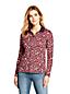 Women's Petite Long Sleeve Print Supima Cotton Polo Shirt