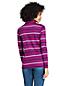 Women's Plus Long Sleeve Striped Supima Cotton Polo Shirt