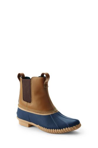 Women's Flannel Lined Chelsea Duck Boots
