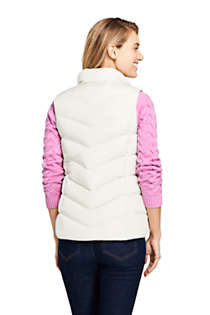 Women's Petite Winter Down Puffer Vest, Back
