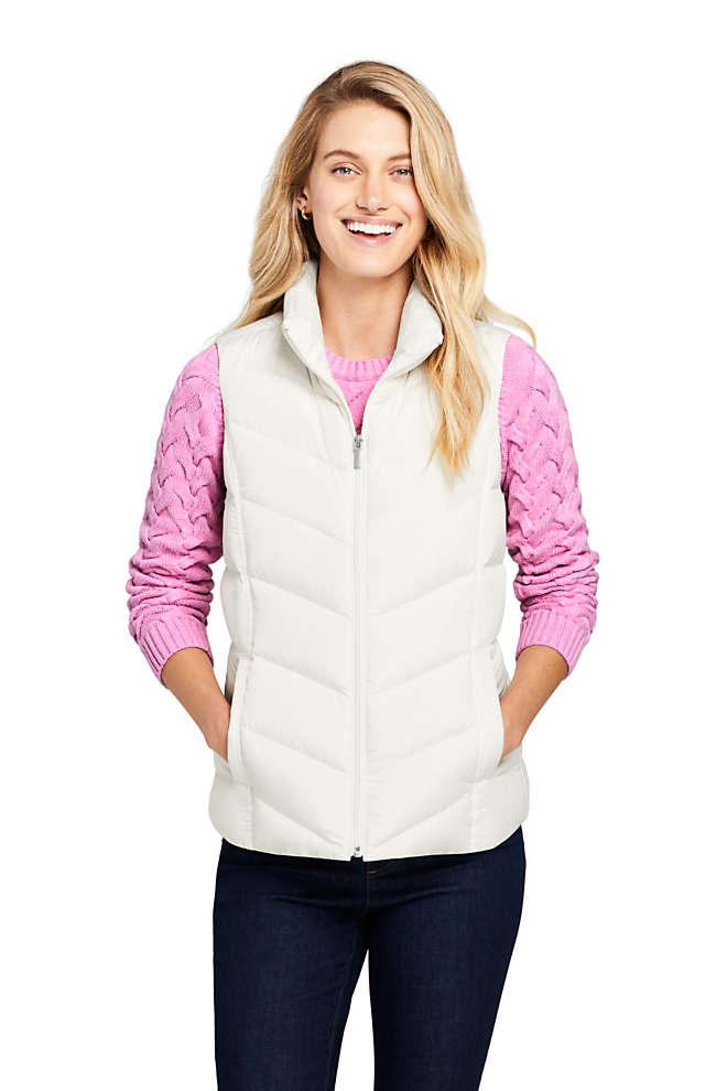 Women's Petite Winter Down Puffer Vest, Front