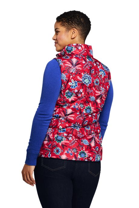 Women's Plus Size Print Down Puffer Vest