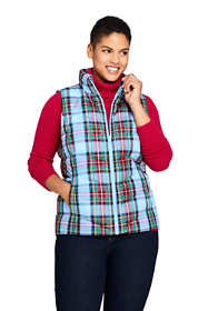 Women's Plus Size Winter Down Puffer Vest Print