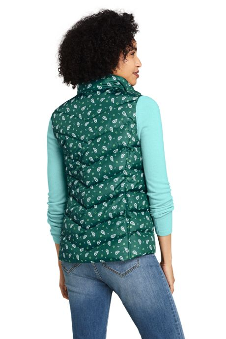 Women's Winter Down Puffer Vest Print
