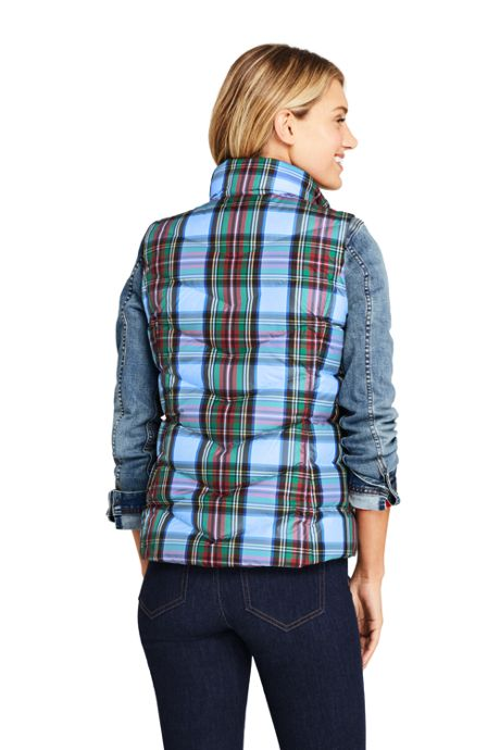 Women's Tall Winter Down Puffer Vest Print