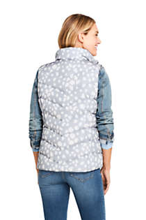 Women's Winter Down Puffer Vest Print , Back