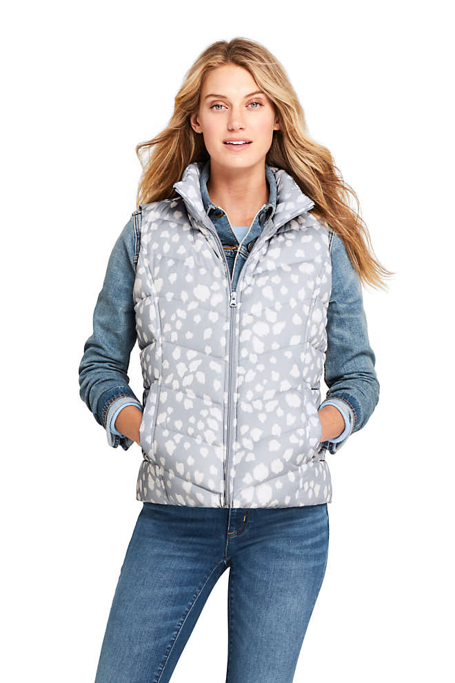 Women's Winter Down Puffer Vest Print , Front