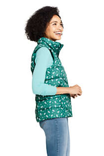Women's Winter Down Puffer Vest Print , alternative image