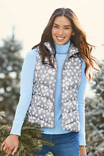 Women's Winter Down Puffer Vest Print , Unknown