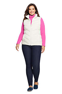 Women's Plus Size Winter Down Puffer Vest, Unknown
