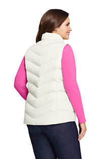 Women's Plus Size Winter Down Puffer Vest, Back