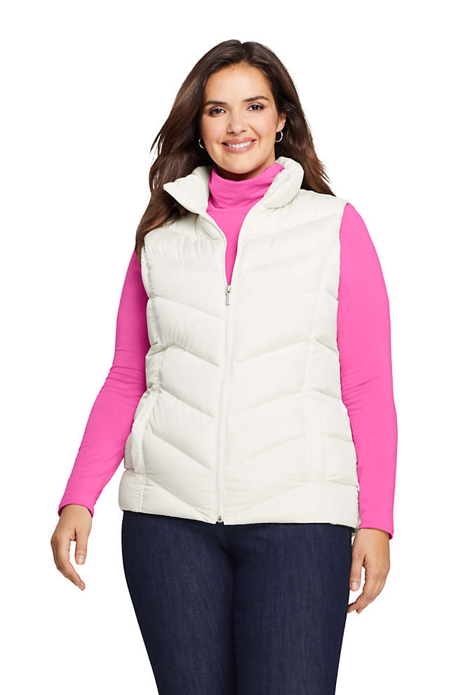 Women's Plus Size Winter Down Puffer Vest, Front
