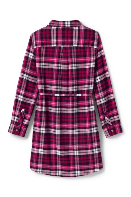 Girls Plus Size Flannel Dress