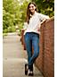 Jogger Indigo Façon Jean Taille Mi-Haute, Femme Stature Standard