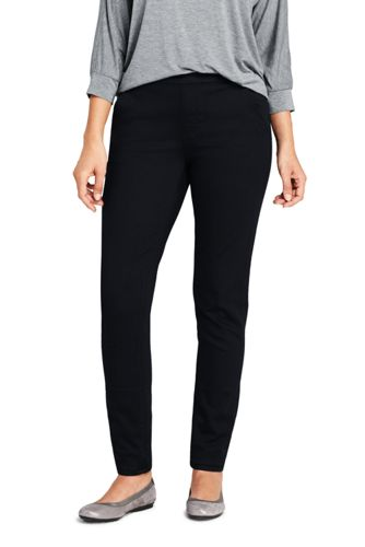 Women's Soft Black Denim Joggers