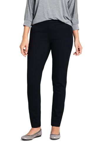 Jogger Noir Façon Jean Taille Mi-Haute, Femme Stature Standard