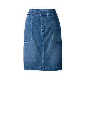quality design d53e2 24548 Jeansrock aus Soft-Denim in Indigo für Damen | Lands' End