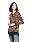 Pull Long Fines Mailles Jacquard Col V, Femme Stature Standard