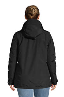 Women's Plus Size Hooded Squall Winter Jacket, Back