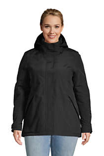 Women's Plus Size Hooded Squall Winter Jacket, Front