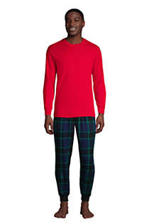 Men's Tall Knit Rib Crewneck Pajama Shirt, alternative image
