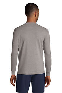 Men's Knit Rib Crewneck Pajama Shirt, Back