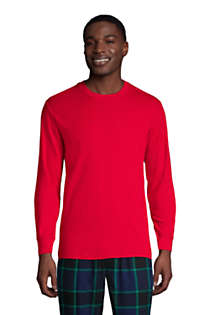 Men's Tall Knit Rib Crewneck Pajama Shirt, Front