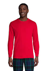 Men's Tall Knit Rib Crewneck Pajama Shirt