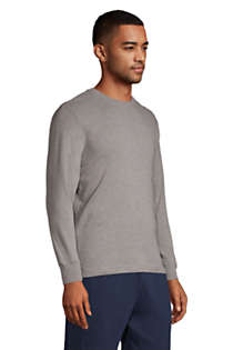 Men's Knit Rib Crewneck Pajama Shirt, alternative image