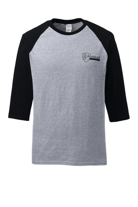 Unisex Big Gildan Three Quarter Raglan Sleeve Tee