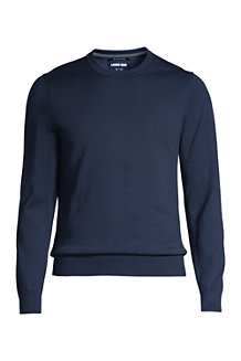 Pull Supima Ras-du-Cou Manches Longues, Homme