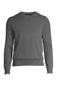 Men's Tall Fine Gauge Supima Cotton Crewneck Sweater
