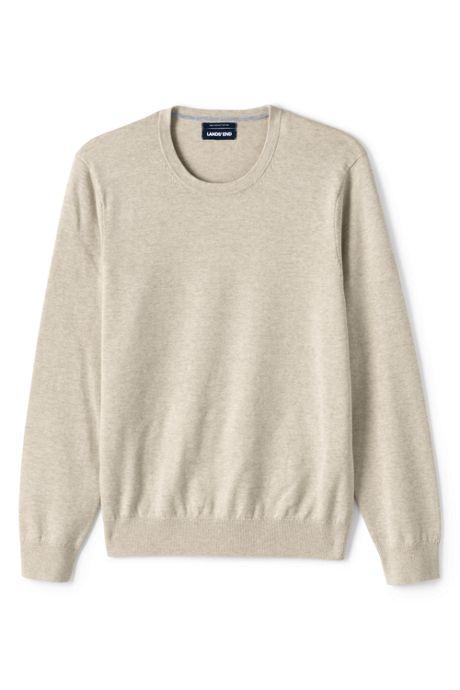 Men's Tall Fine Gauge Supima Cotton Crewneck Sweater