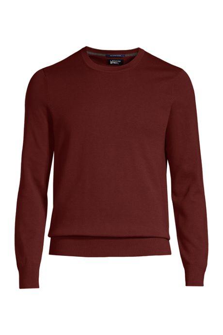 Men's Fine Gauge Supima Cotton Crewneck Sweater