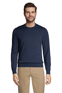 Men's Fine Gauge Supima® Cotton Crew-neck Jumper