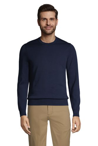 Pull Supima Ras-du-Cou Manches Longues, Homme Stature Standard