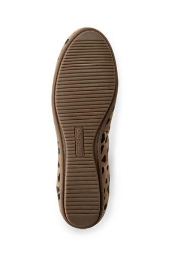 Women's Comfort Elastic Suede Leather Slip On Ballet Flat Shoes-Animal Print