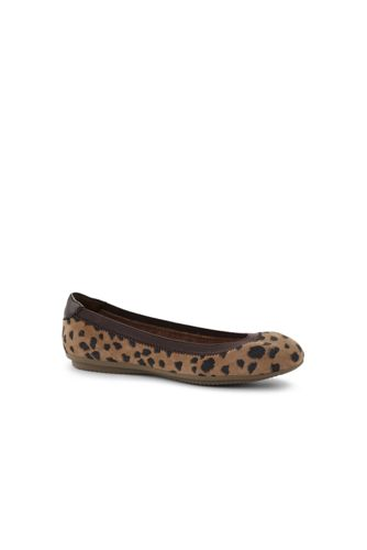 Women's Patterned Comfort Ballet Pumps in Suede
