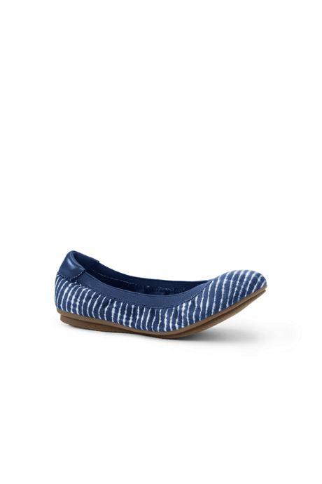 Women's Comfort Elastic Slip On Ballet Flat Shoes-Plaid