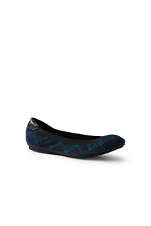 Women's Plaid Comfort Ballet Pumps