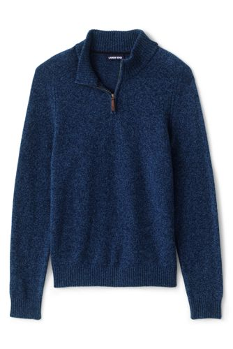 Men's Half Neck Zip Lambswool Jumper