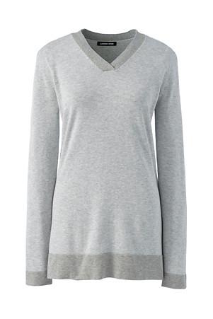 0a9840d8166 Women's V-Neck Cotton Tunic Jumper