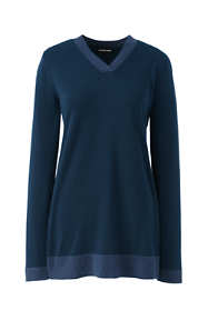 Women's Plus Size Cotton V-neck Tunic